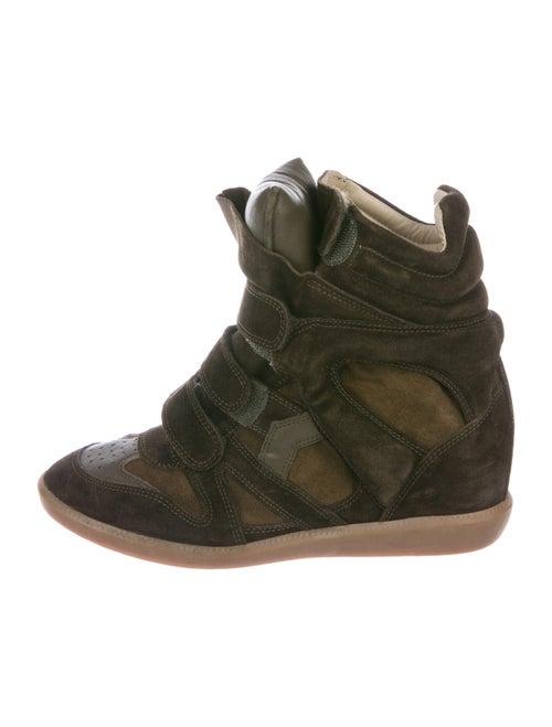 Isabel Marant Beckett Wedge Sneakers Brown