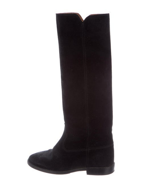 Isabel Marant Suede Riding Boots Black