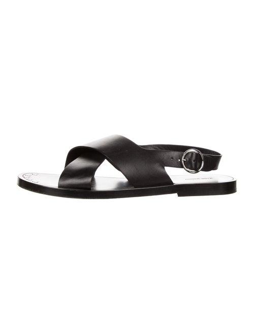 Isabel Marant Leather Slingback Sandals Black