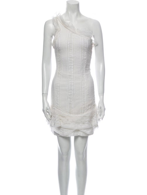 Isabel Marant One-Shoulder Mini Dress White