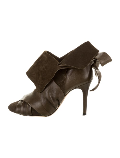 Isabel Marant Leather Boots Green