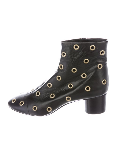 Isabel Marant Leather Lace-Up Boots Black