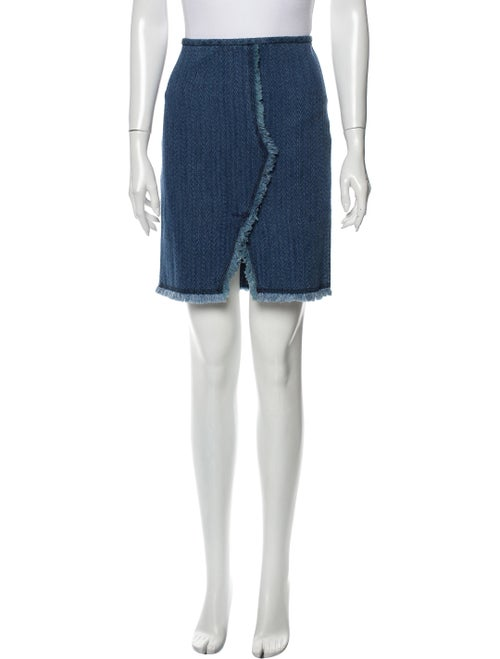 Isabel Marant Knee-Length Skirt Blue