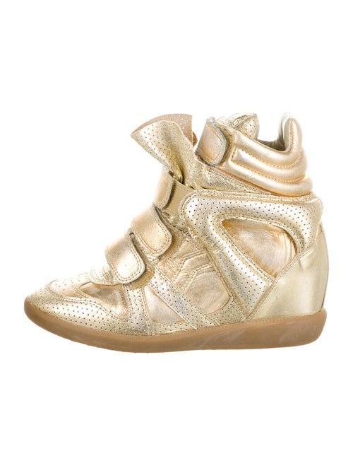 Isabel Marant Wedge Sneakers Gold