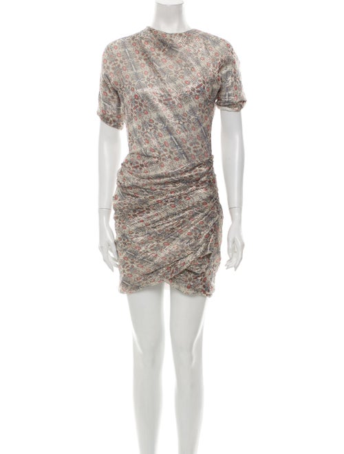 Isabel Marant Silk Mini Dress Metallic