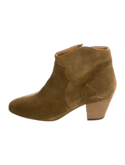 Isabel Marant Suede Boots Green