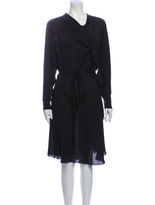 Isabel Marant Silk Knee-Length Dress Black