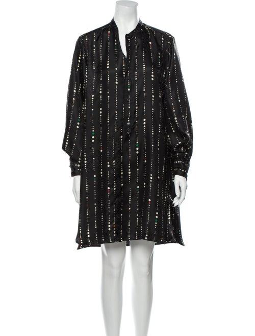 Isabel Marant Silk Mini Dress Black