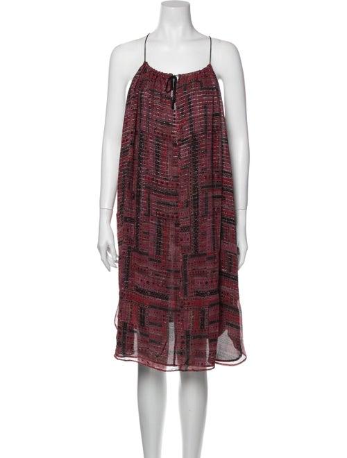 Isabel Marant Silk Knee-Length Dress Pink