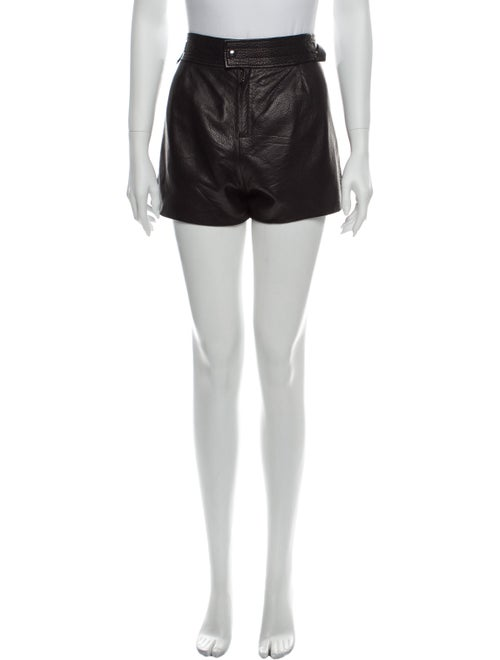 Isabel Marant Leather Mini Shorts Black
