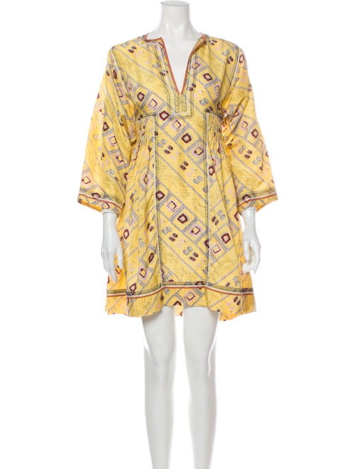 Isabel Marant Silk Mini Dress Yellow