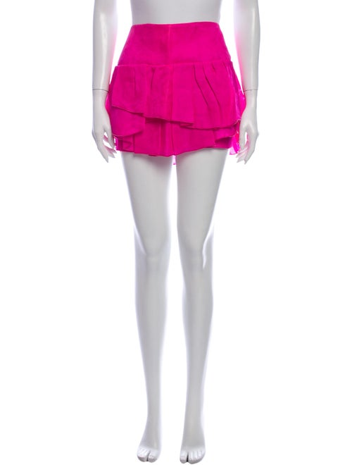 Isabel Marant Silk Mini Skirt Pink