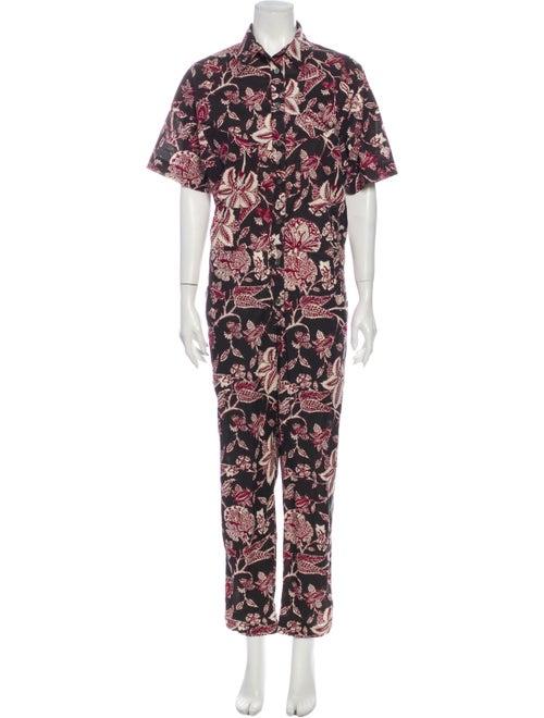 Isabel Marant Floral Print Jumpsuit Brown