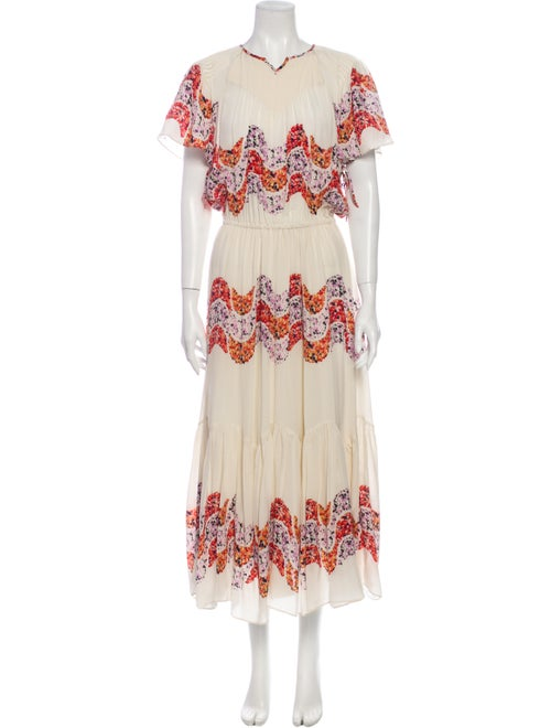 Isabel Marant Silk Long Dress White