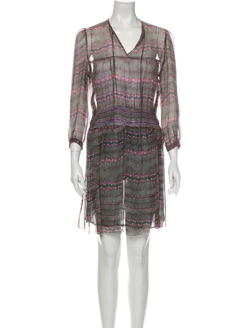 Isabel Marant Silk Mini Dress Brown