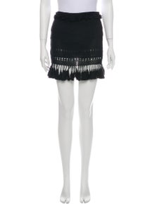 Isabel Marant Fringe Trim Accent Mini Skirt