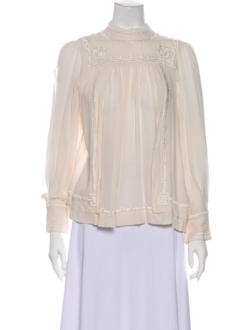 Isabel Marant Silk Mock Neck Blouse