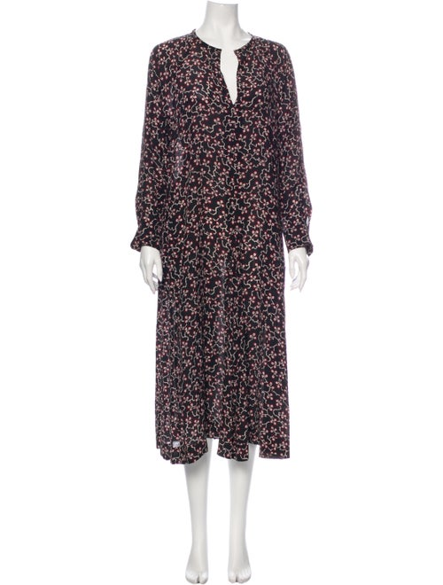 Isabel Marant Silk Long Dress Black