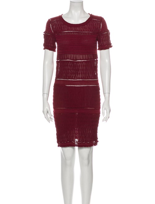 Isabel Marant Silk Mini Dress Red