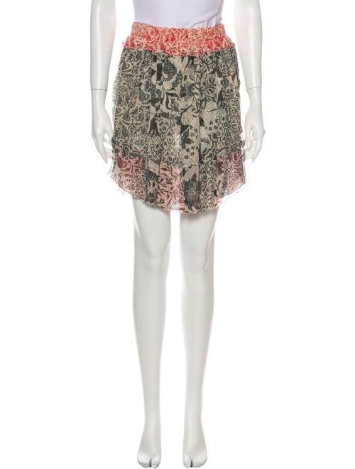 Isabel Marant Silk Mini Skirt Black