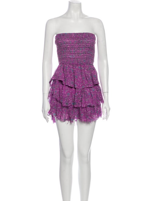 Isabel Marant Silk Mini Dress Purple