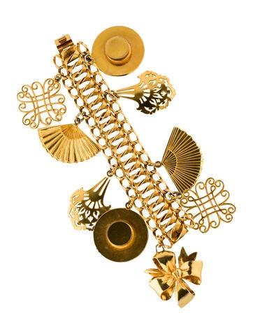 Isabel Canovas Multi-Charm Link Bracelet