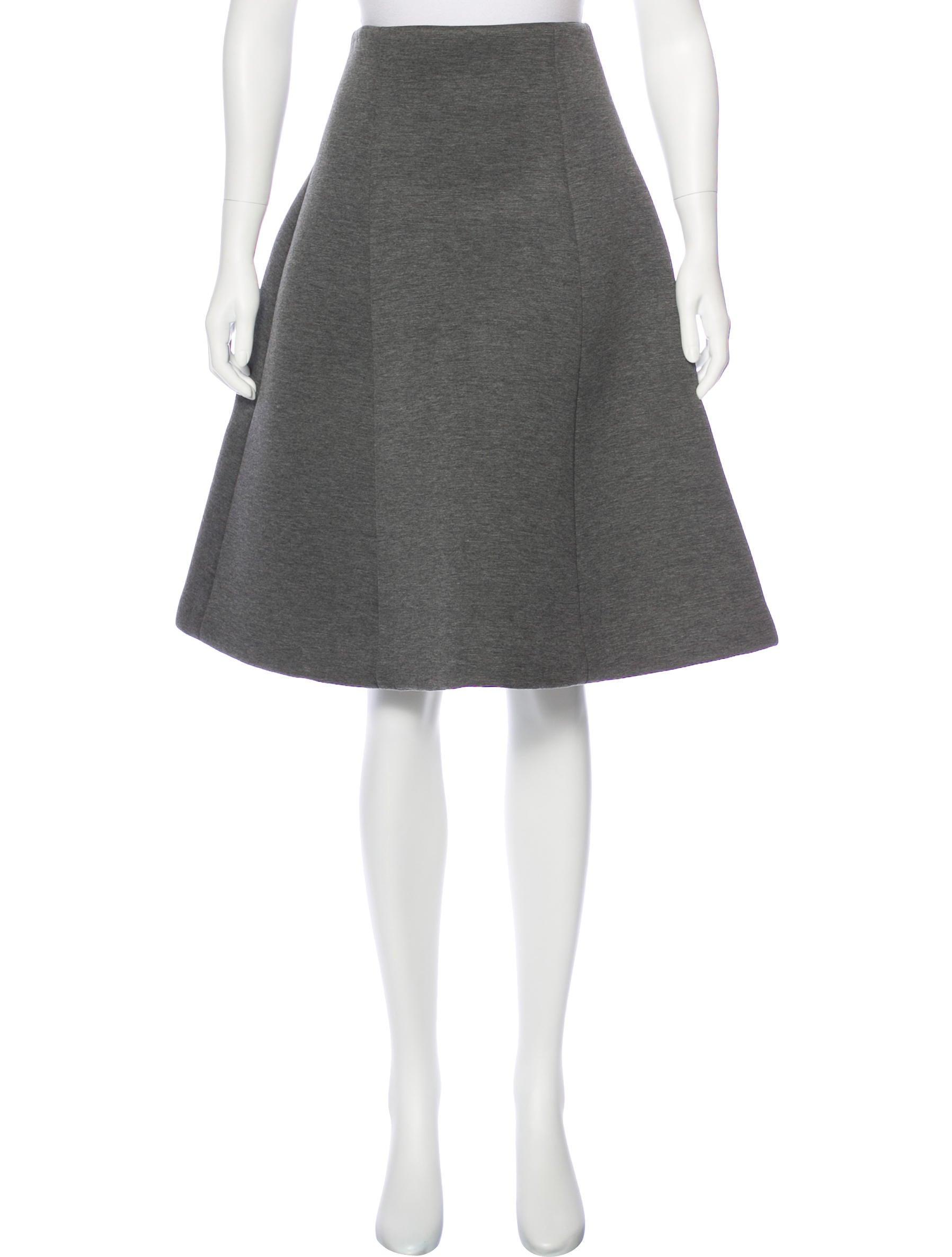 isaac mizrahi knee length a line skirt clothing