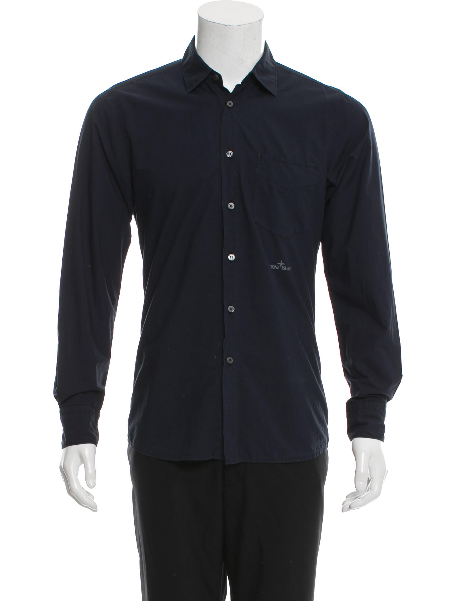 Stone island long sleeve button up shirt clothing for Cool long sleeve button up shirts
