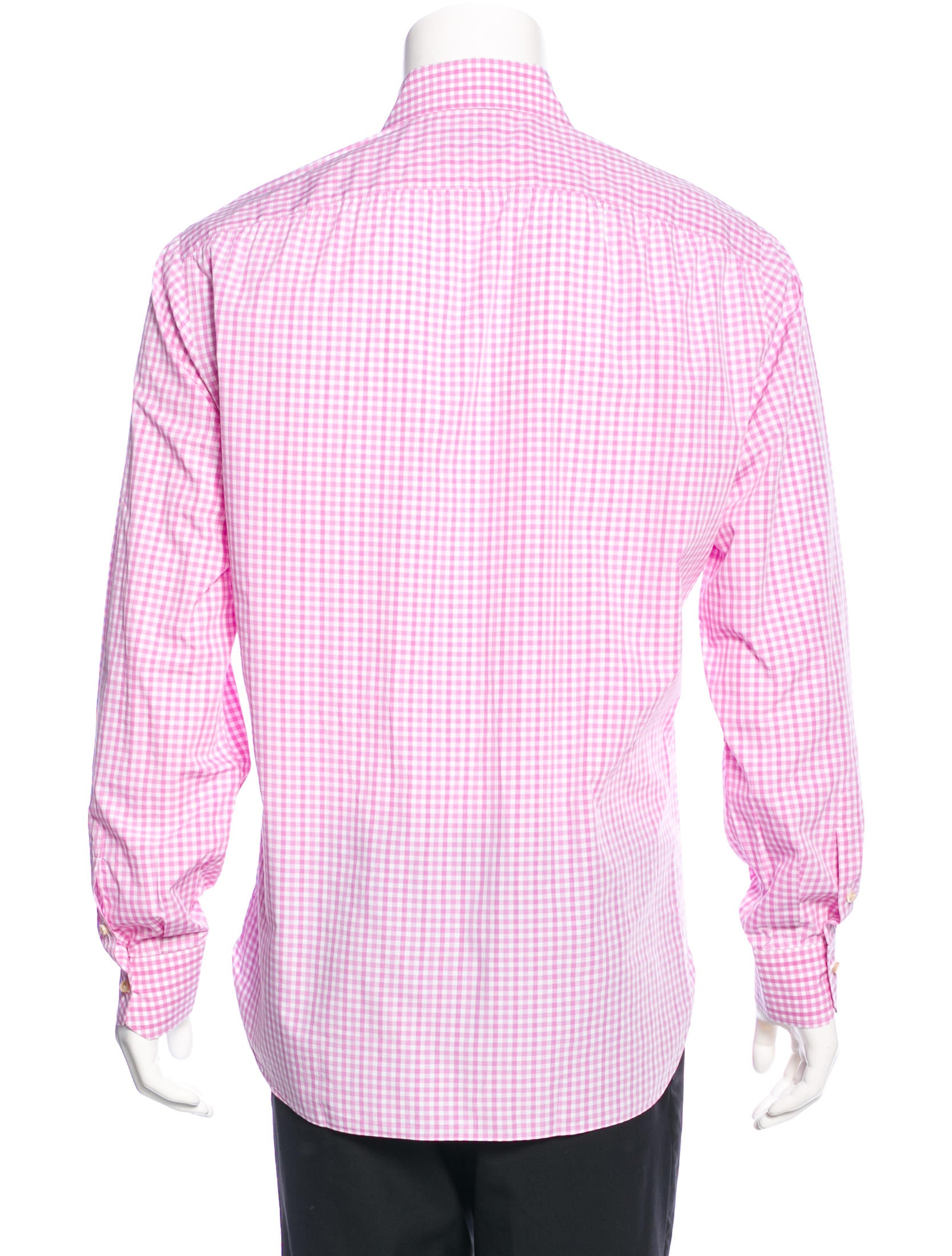 Isaia gingham dress shirt clothing isi20279 the realreal for Gingham dress shirt men
