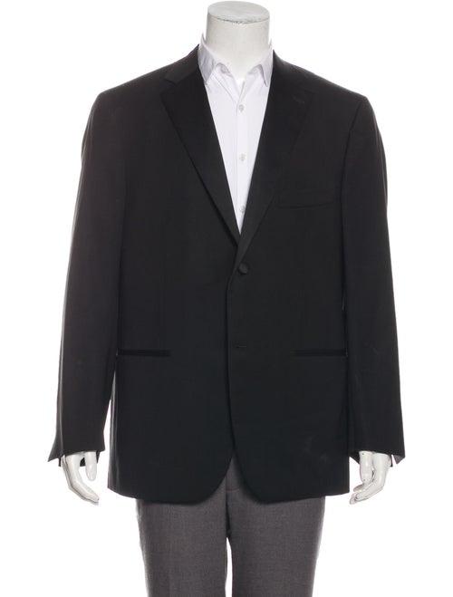 Isaia Wool Tuxedo Jacket black