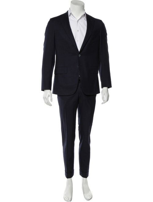 Isaia Wool Two-Piece Suit black