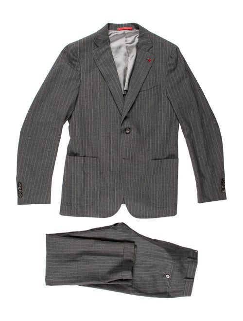 Isaia Wool Two-Piece Suit grey