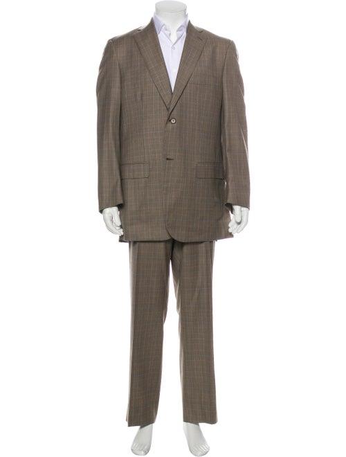Isaia Plaid Two-Piece Suit Set