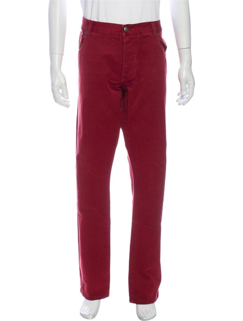 Isaia Chinos Red