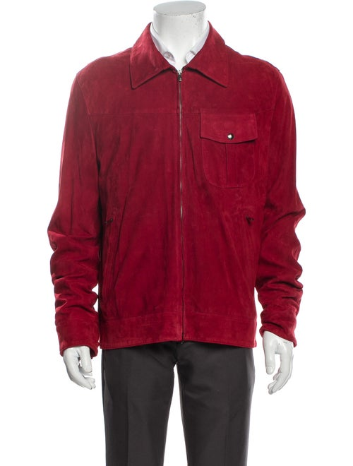 Isaia Suede Jacket Red