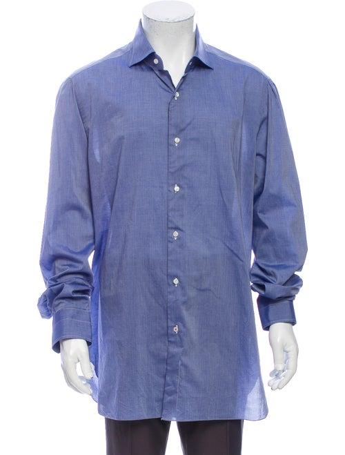 Isaia Long Sleeve Shirt Blue