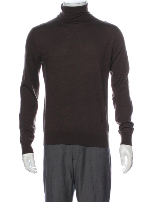 Isaia Turtleneck Long Sleeve Pullover Brown