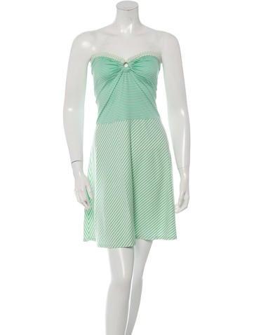 Issa Mixed Striped Strapless Dress