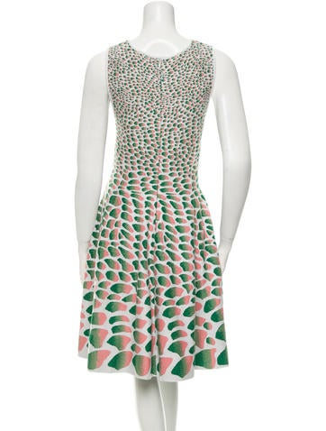 Patterned Flare Dress