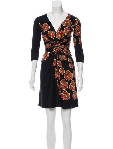 Issa Abstract Print Silk Dress