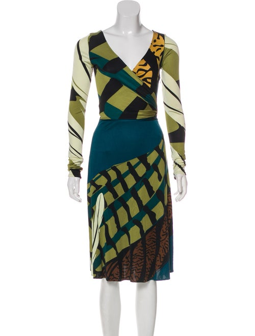 Issa Silk Wrap Dress multicolor