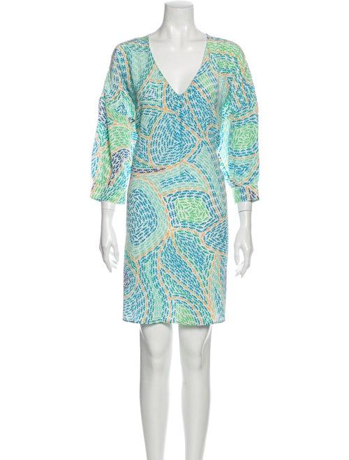 Issa Silk Mini Dress w/ Tags Green