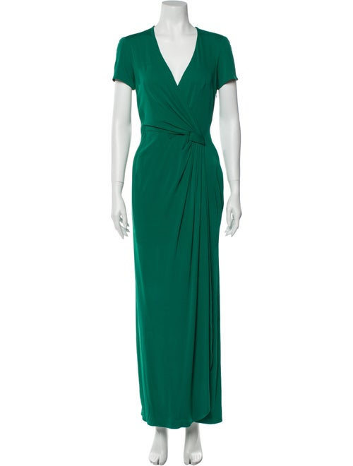 Issa Silk Long Dress Green