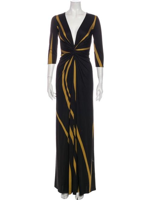 Issa Silk Long Dress Black