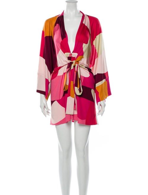 Issa Silk Mini Dress Pink