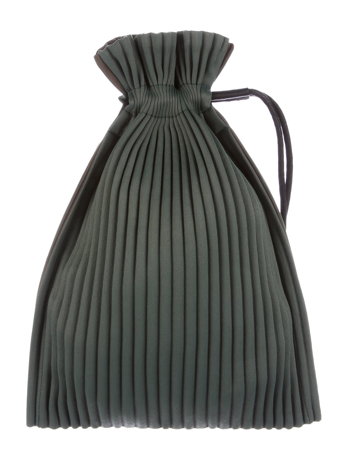 Issey Miyake Pleated Drawstring Bag - Bags - ISS20598 | The RealReal