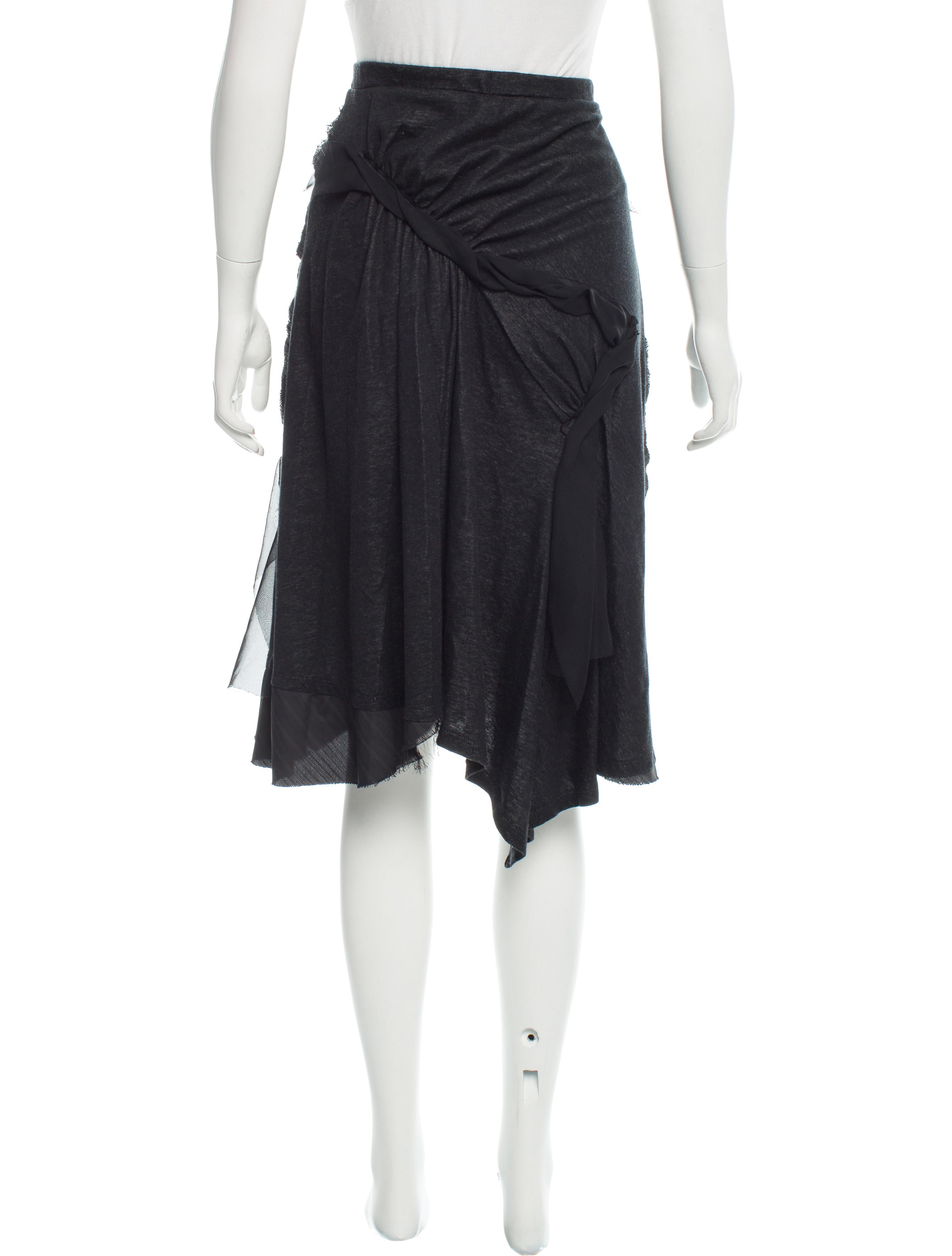 Issey Miyake Knit Asymmetrical Skirt - Clothing
