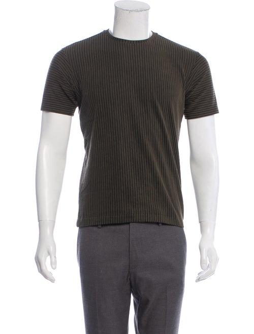 Issey Miyake Textured Knit T-Shirt olive