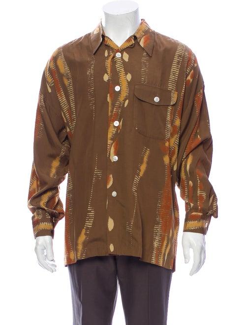 Issey Miyake Vintage Printed Shirt Brown