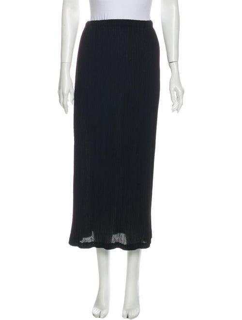 Issey Miyake Pleated Accents Midi Length Skirt Bla